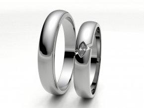 Bílé Au585 snubní prsteny 3304301