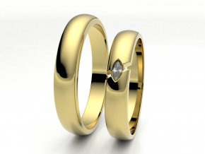Žluté Au585 snubní prsteny 3304302