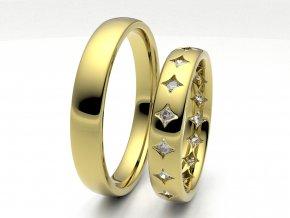 Snubní prsteny žluté zlato 3304502