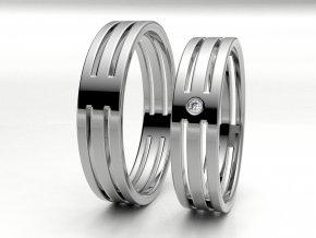 Bílé Au585 snubní prsteny 3304601