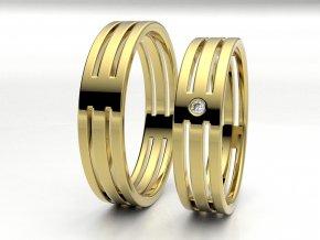 Žluté Au585 snubní prsteny 3304602