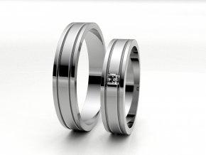 Bílé Au585 snubní prsteny 3304701