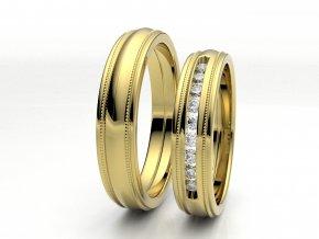 Žluté Au585 snubní prsteny 3304802