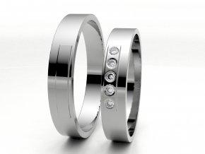 Bílé Au585 snubní prsteny 3304901