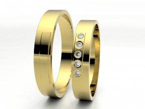 Snubní prsteny žluté zlato 3304902