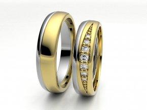 Dvojbarevné snubní prsteny 3305203