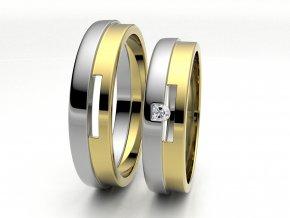 Dvojbarevné snubní prsteny 3305303