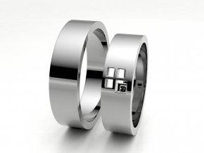 Snubní prsteny bílé zlato 3305801