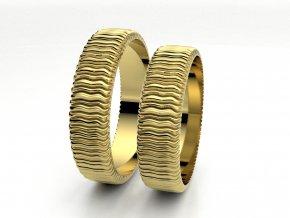 Snubní prsteny žluté zlato 3306102