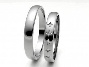 Snubní prsteny bílé zlato 3306301