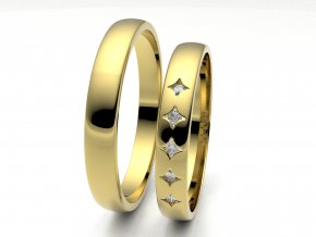 Snubní prsteny žluté zlato 3306302