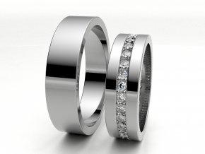 Snubní prsteny bílé zlato 3306401