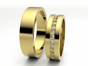 Snubní prsteny žluté zlato 3306402