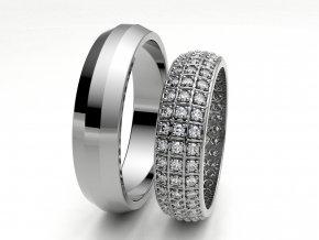 Snubní prsteny bílé zlato 3306601