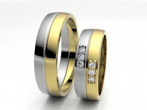 Dvojbarevné snubní prsteny 3306903