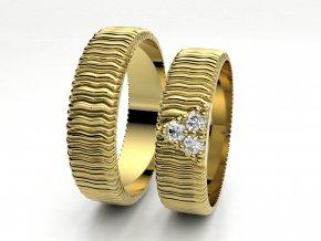 Snubní prsteny žluté zlato 3307002