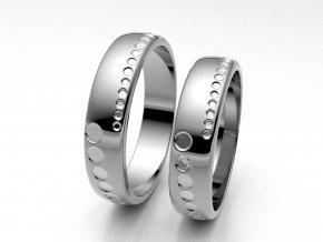 Snubní prsteny bílé zlato 3307201