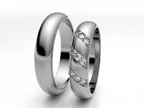 Snubní prsteny bílé zlato 3307301