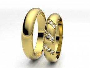 Snubní prsteny žluté zlato 3307302