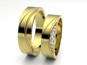 Snubní prsteny žluté zlato 3307602