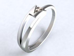 Ag925 prsten trojúhelník s dírou