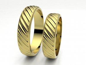 Snubní prsteny žluté zlato 3307802