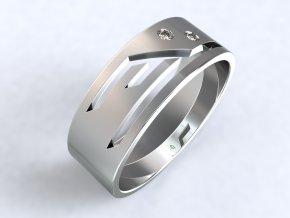 Ag925 prsten éčko