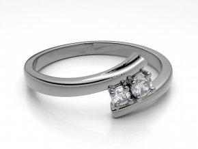 Zlatý prsten se dvěma kameny 2303701
