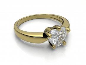 Zlatý prsten se srdcem 6x6 mm 2304101