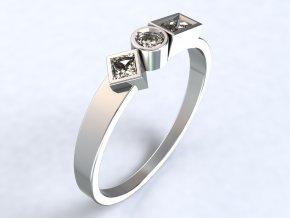 Ag925 prsten geometrie