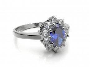 Stříbrný prsten Lady Di