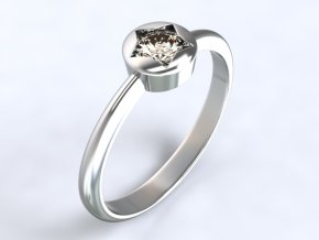Au 585/1000 Zlatý prsten s kamenem1305101