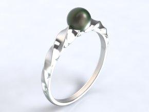 Zlatý prsten s perlou 1305401