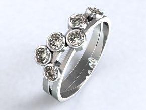 Stříbrný prsten hrozen