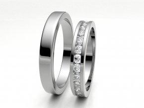 Snubní prsteny bílé zlato 3308001
