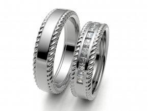 Snubní prsteny bílé zlato 3308401