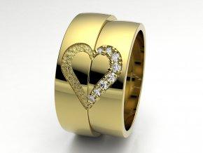 Snubní prsteny žluté zlato 3308502