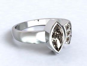 Stříbrný prsten lodička otevřený 315601