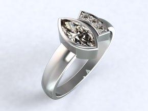 Ag925 prsten naveta otevřený