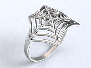 Ag925 prsten pavučina