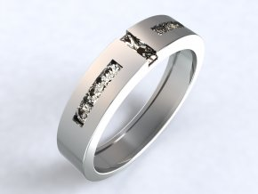 Stříbrný prsten morseovka