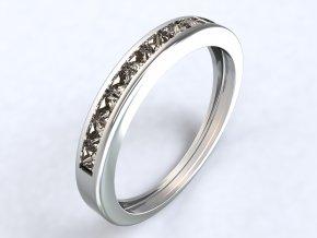 Stříbrný prsten řada čtverců