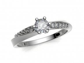 Zlatý zásnubní prsten do soupravy se snubním 991309401