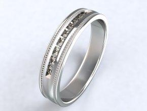 Ag925 prsten ryté proužky