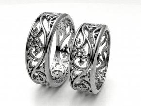 Snubní prsteny bílé zlato 3309001
