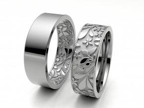 Snubní prsteny bílé zlato 3309101