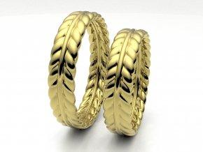 Snubní prsteny žluté zlato 3308702