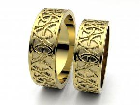Snubní prsteny žluté zlato 3308902
