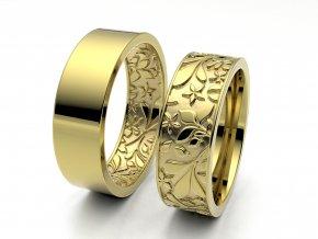 Snubní prsteny žluté zlato 3309102
