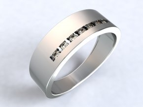 Stříbrný prsten pomlčka